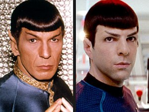 For me, the weird thing about Spock aren't the ears... it's the haircut.