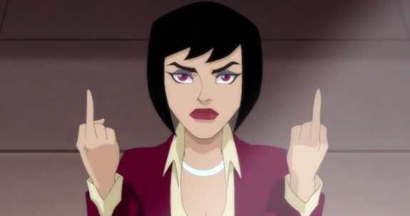 I'd flip off the person who designed your look, too, Lois.