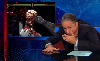 They removed the clip from YouTube. So, here's the link to The Daily Show showing the clip!
