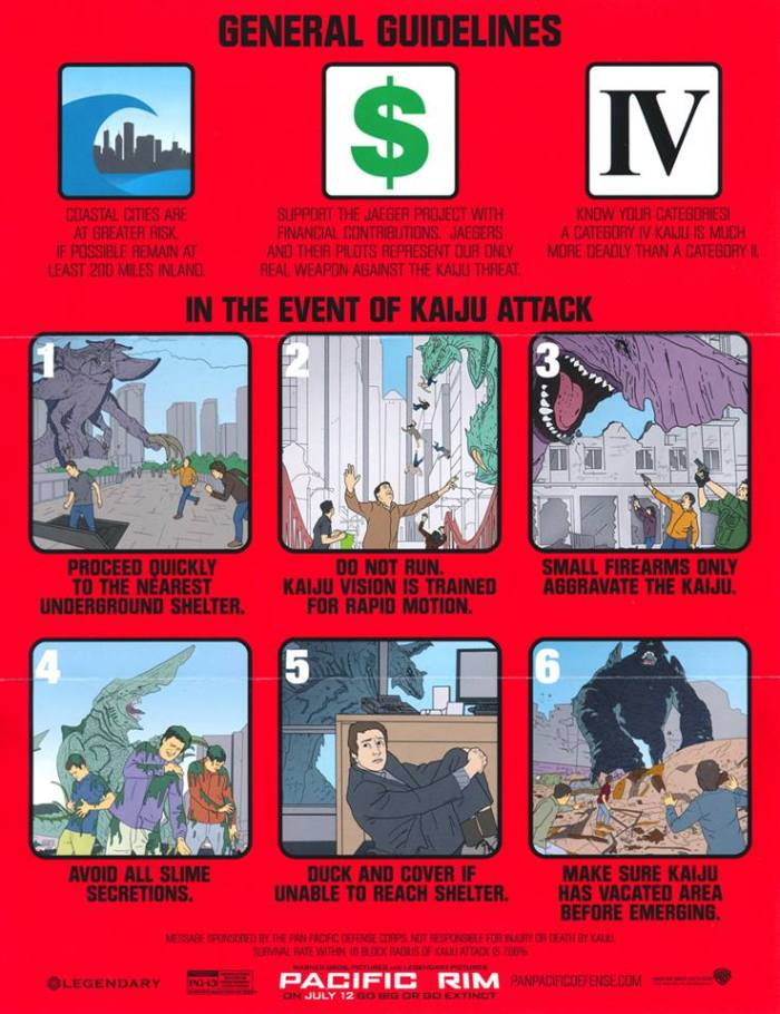Here's a helpful guide on what to do when a kaiju attacks.