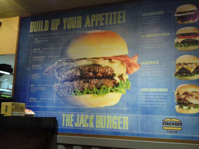 This burger was built by an engineer, I guess?