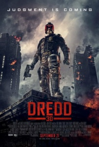 Umm, you know that the buildings behind you are on fire, right, Mr. Dredd, sir?