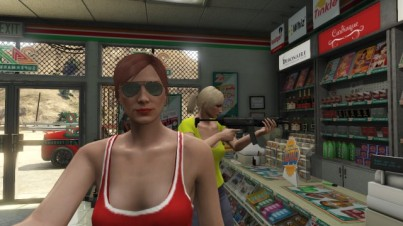 """Killing time with friends"" takes a weird turn in Los Santos"