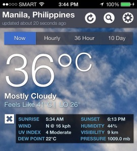 That's 96.8F and 105.8F to you foreigners!