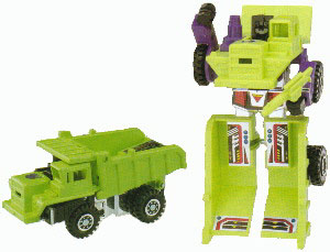 Yes, you are looking at Devastator's penis area.