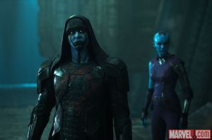 If you have blue skin, chances are you're a villain in Guardians of the Galaxy.