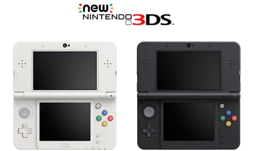The launch colors of the New Nintendo 3DS. Note the colors of the buttons - a throwback to the original Super Famicom.