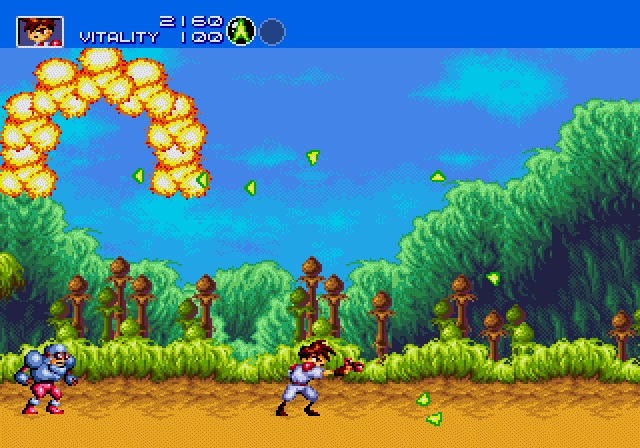 Image result for gunstar heroes mega drive co-op