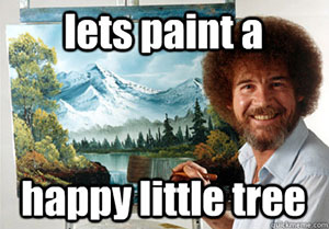 Image result for bob ross happy little trees