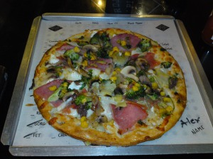 Here is the greatest and most pretentious pizza ever!