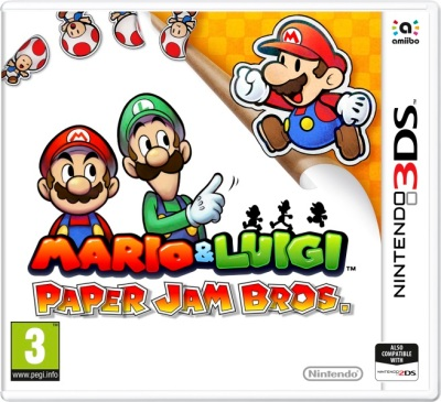box art - mario and luigi paper jam bros