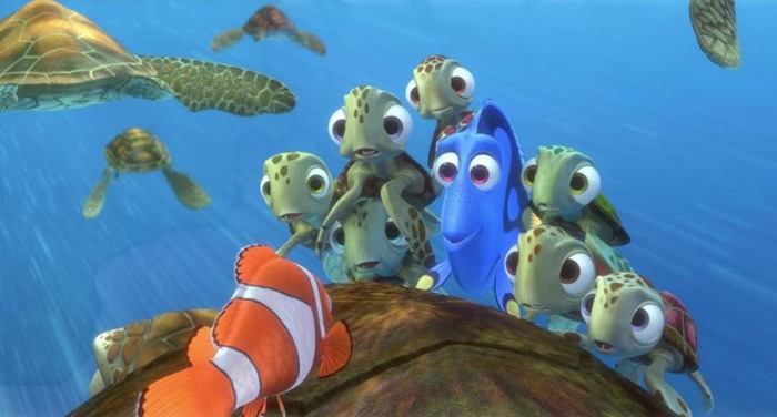 Dory-and-the-turles-listening-to-Marlins-story-in-Finding-Nemo