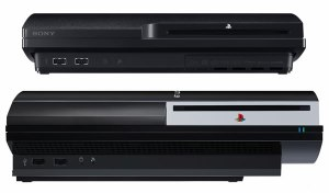 It's much lighter than the original PS3... it's even floating on air!