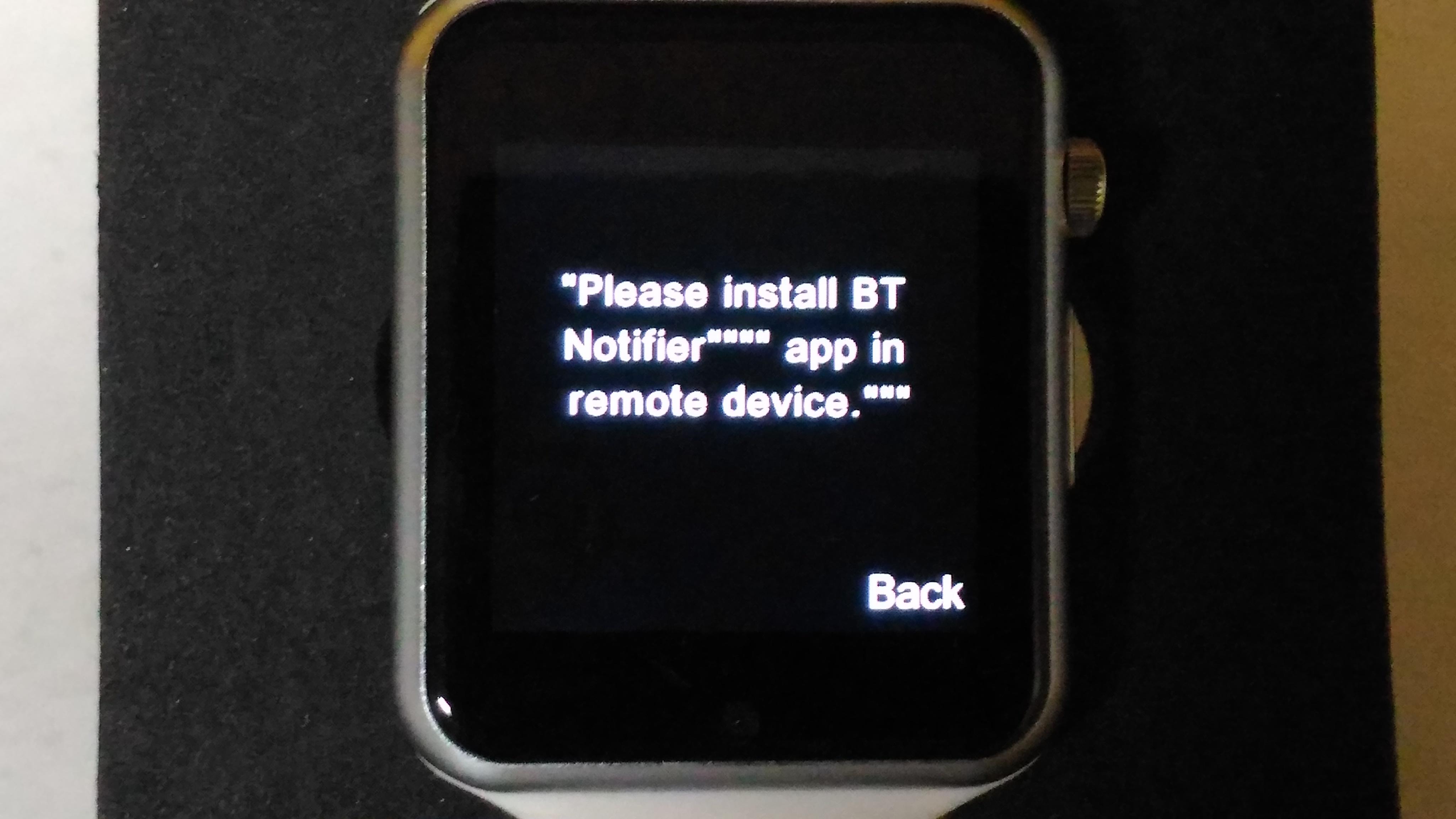 please install bt notifier