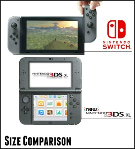 It actually looks like the Switch is a little bit smaller than the 3DS if the latter is unfolded.