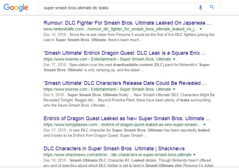 Smash Ultimate Dlc Leak